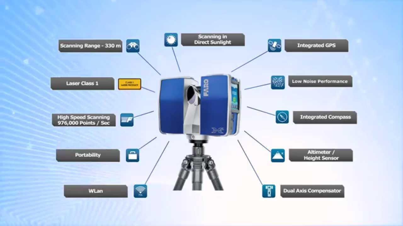 FARO Escáner Láser Focus3D X-330 - CivilTEC